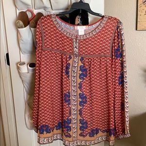Women's 1X western blouse